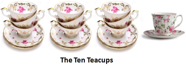 1. Ten Teacups